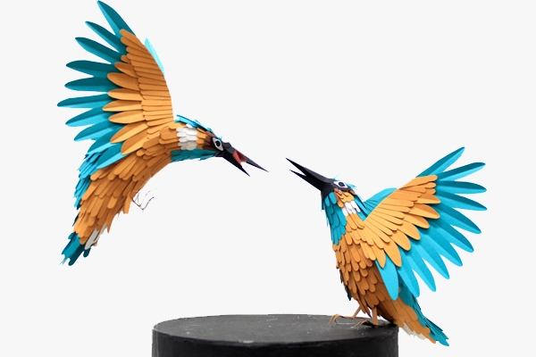 8 Paper Birds by Diana Beltran Herrera
