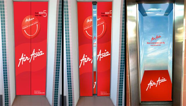 airaisia11 18 Creative Elevator Advertisements