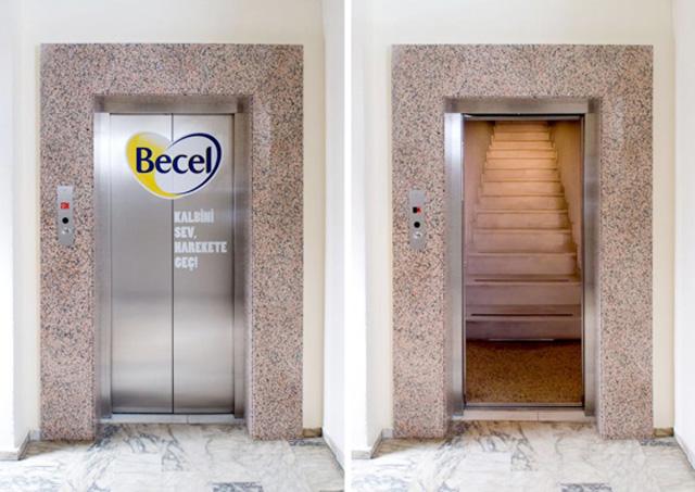 becelelevatorturkey1 18 Creative Elevator Advertisements