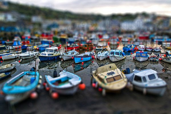 boat yard 40 Wonderful Examples of Tilt Shift Photography