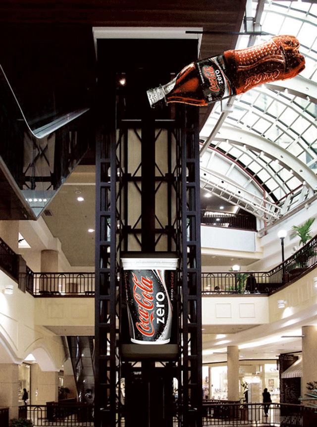 cocacolazeroelevator11 18 Creative Elevator Advertisements