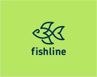 fishline1 40 Clever Minimal Logo Designs