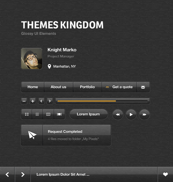 glossy ui elements21 20+ Premium Freebies from Themes Kingdom