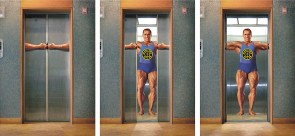 goldsgym preview1 18 Creative Elevator Advertisements