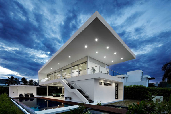 house gm1 06 800x533 GM1: Minimalist House Residence in Colombia