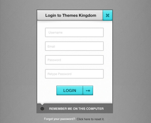 login form 20+ Premium Freebies from Themes Kingdom