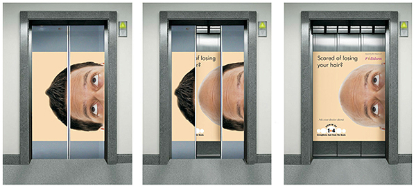 losing your hair 18 Creative Elevator Advertisements