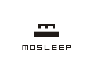 mosleep1 40 Clever Minimal Logo Designs