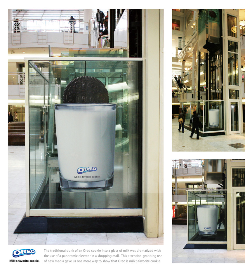 oreoelevator1 18 Creative Elevator Advertisements