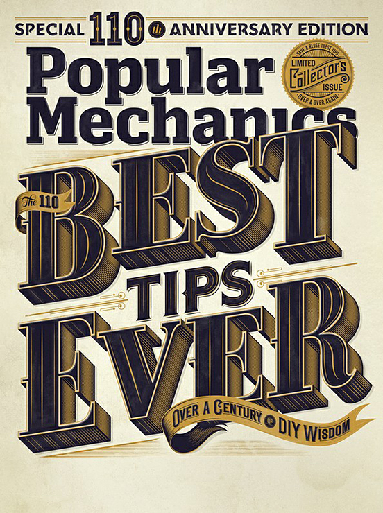 popular mechanics 110th edition l1 45 Remarkable Examples Of Typography Design #9