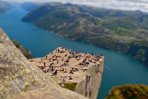 pulpit rock 40 Wonderful Examples of Tilt Shift Photography