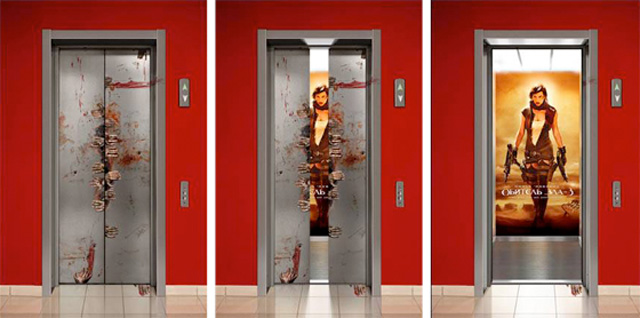 residentevil11 18 Creative Elevator Advertisements
