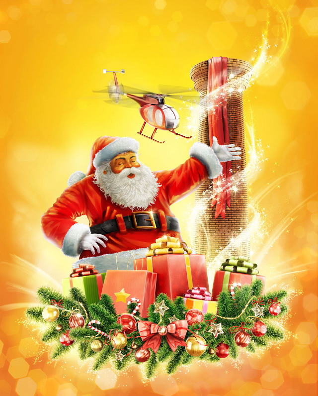 santa Outstanding Illustrations and Animations by Romeu & Julieta