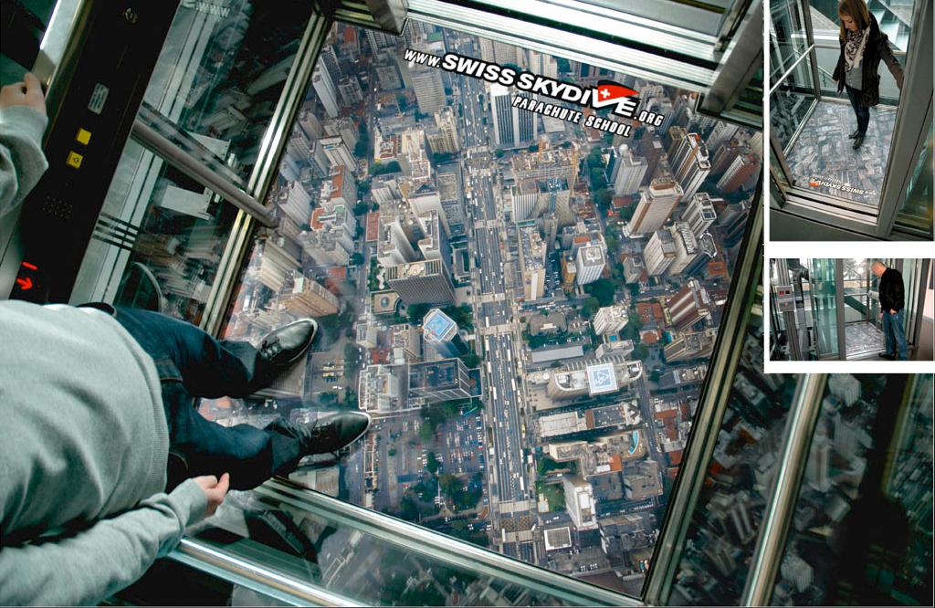 swissskydive11 18 Creative Elevator Advertisements