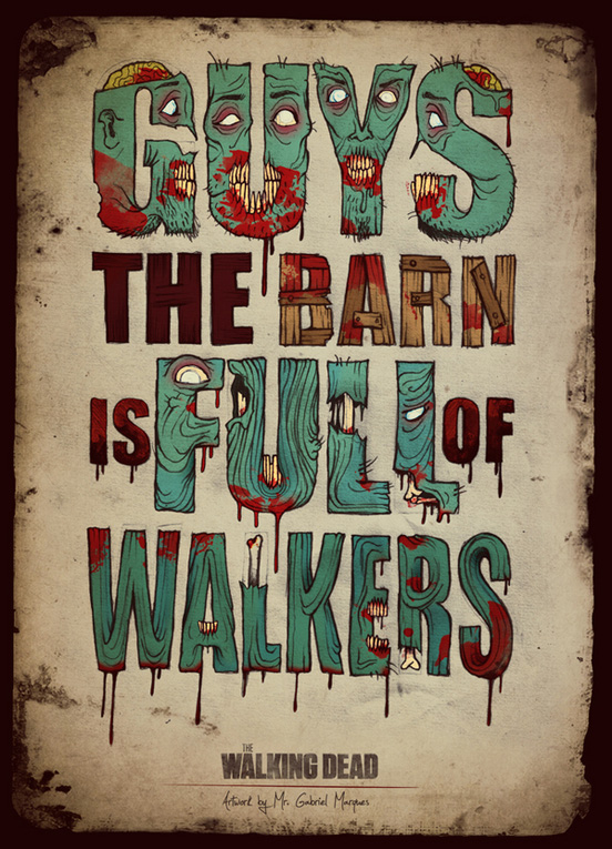the walking dead l1 45 Remarkable Examples Of Typography Design #9
