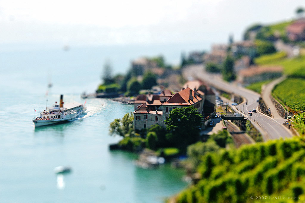 tilt shift i   vevey by b4silio1 40 Wonderful Examples of Tilt Shift Photography
