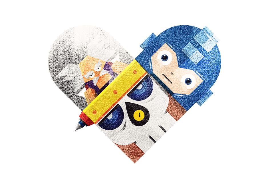 tumblr m4fogatxlj1rpywm4o1 12801 Love and Hate Versus Hearts by Dan Matutina