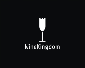 wine kingdom1 40 Clever Minimal Logo Designs