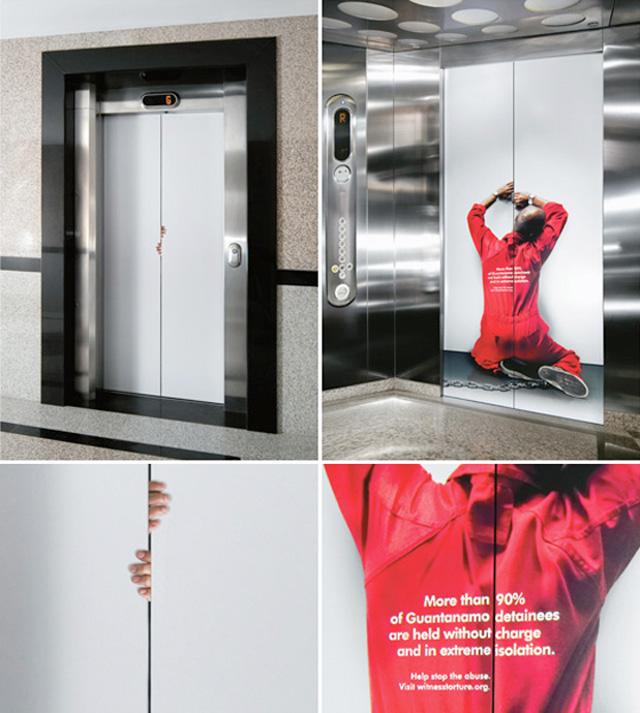 witnesselevator11 18 Creative Elevator Advertisements