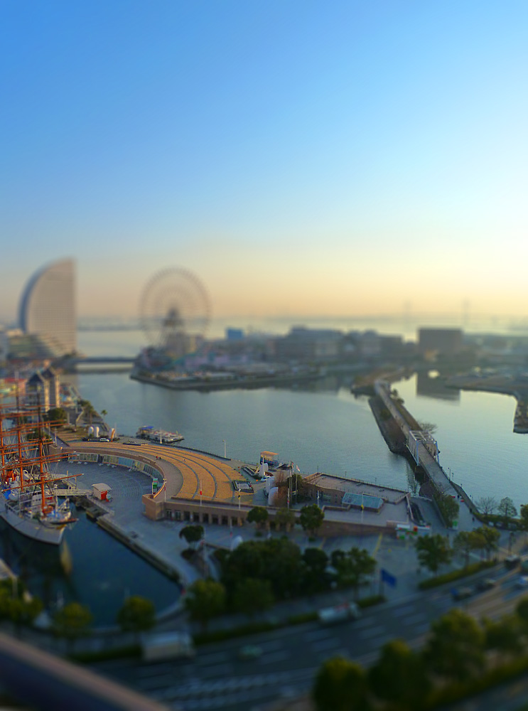 yokohama   facing tokyo bay by polar1908 d3ahvdr1 40 Wonderful Examples of Tilt Shift Photography