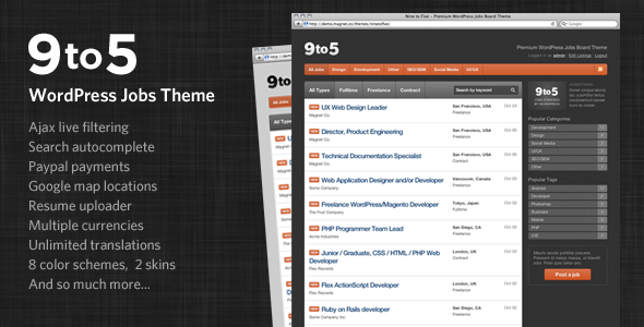01 preview   large preview1 14 Superior Job Board WordPress Themes & Plugins