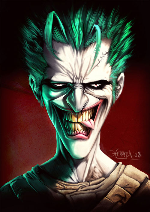 12 joker1 Why So Serious: 30 Incredible Joker Illustrations