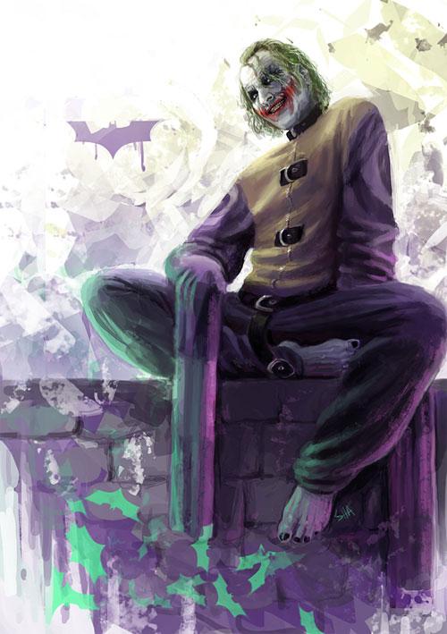17 joker the batman1 Why So Serious: 30 Incredible Joker Illustrations