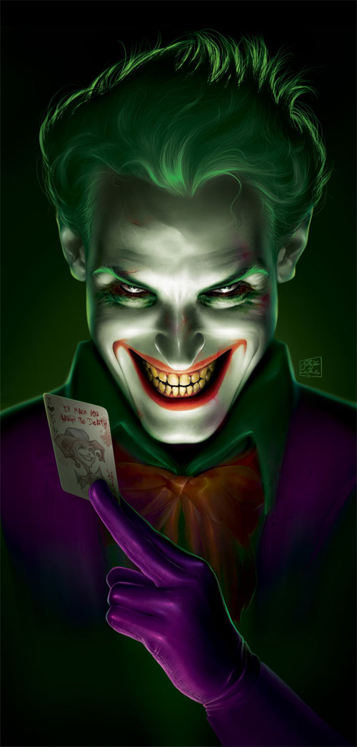 5 the joker1 Why So Serious: 30 Incredible Joker Illustrations