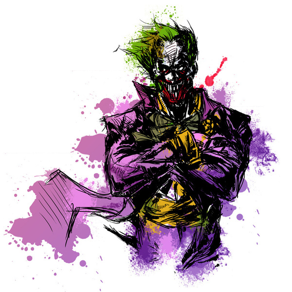 529218 2415366 lz1 Why So Serious: 30 Incredible Joker Illustrations