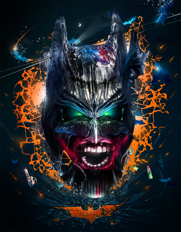 7696a6048289ed9e9f661f97a43d32ac1 Why So Serious: 30 Incredible Joker Illustrations