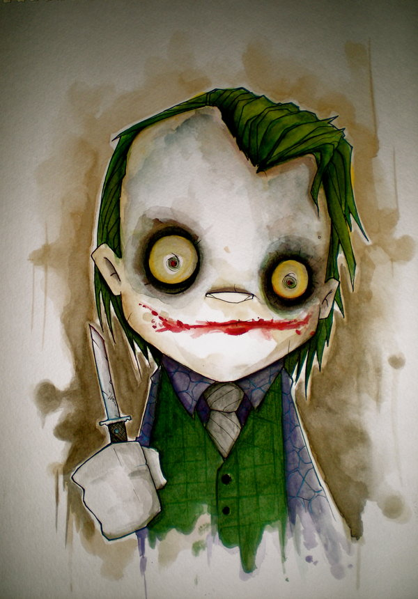 dark knight joker by uminga1 Why So Serious: 30 Incredible Joker Illustrations