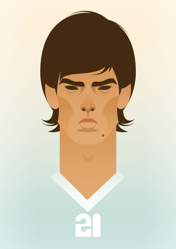 davidsilva Famous Footballers Illustrated by Stanley Chow