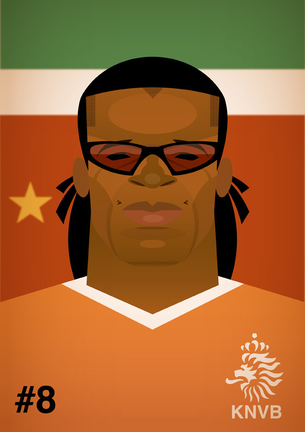 edgardavids4 Famous Footballers Illustrated by Stanley Chow