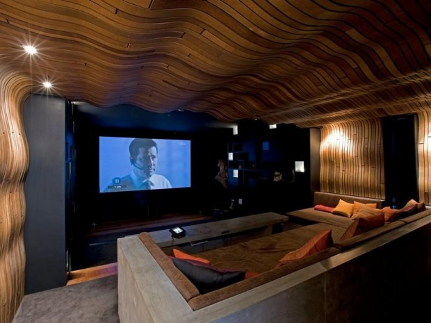entertainment room 620x465 Luxurious and Peaceful Designer Home In New Zealand