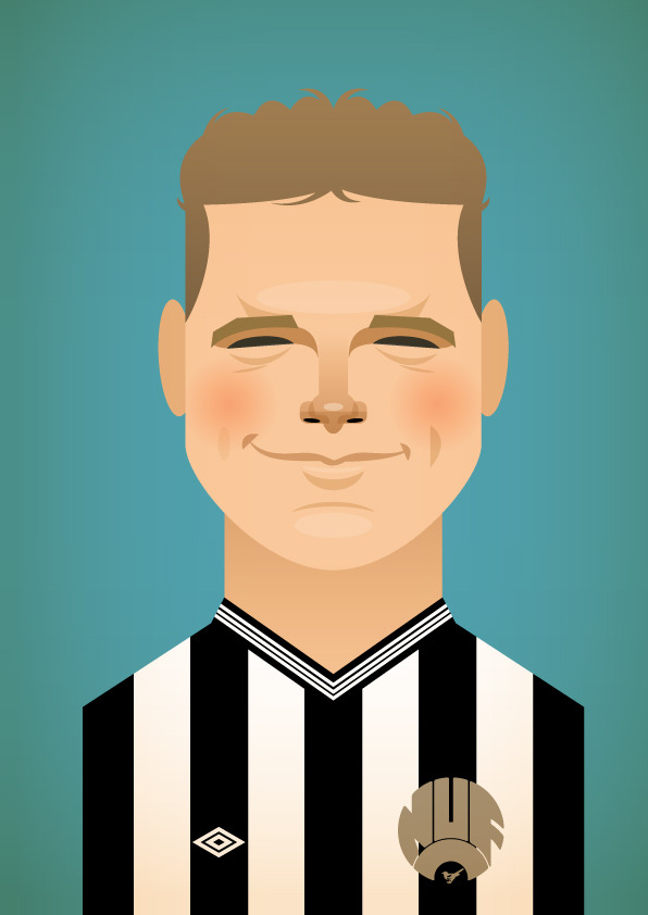gazza2 Famous Footballers Illustrated by Stanley Chow