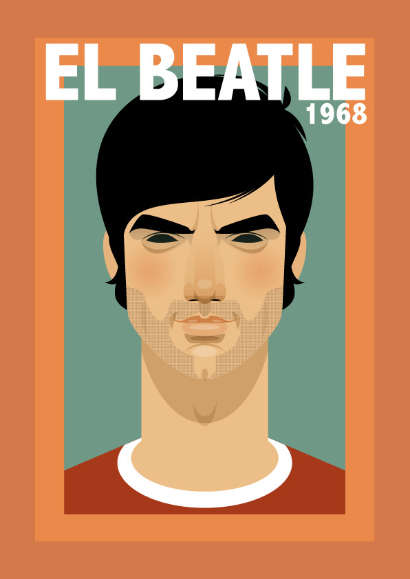georgebest Famous Footballers Illustrated by Stanley Chow