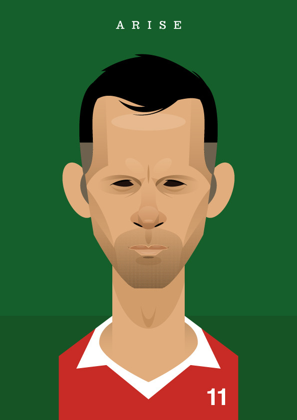giggsy Famous Footballers Illustrated by Stanley Chow