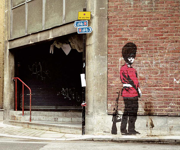 "guard ""You are not Banksy"" by Nick Stern"
