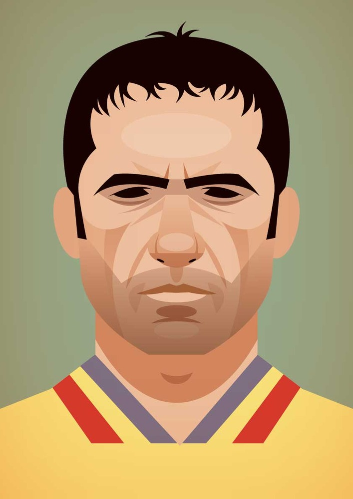 hagi Famous Footballers Illustrated by Stanley Chow