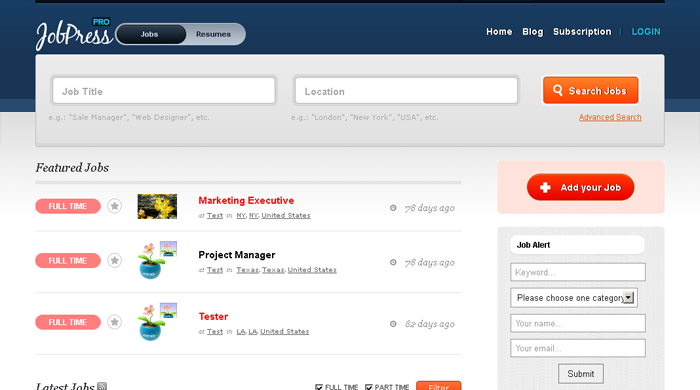 jobpress professional wordpress theme1 15 Superior Job Board Wordpress Themes & Plugins
