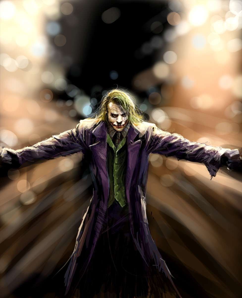 joker by adoc1 Why So Serious: 30 Incredible Joker Illustrations