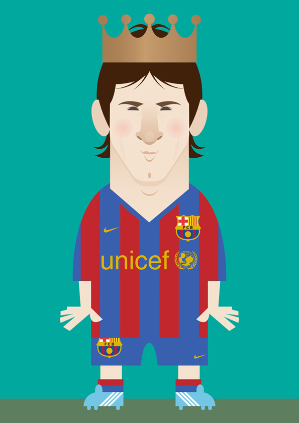 messi Famous Footballers Illustrated by Stanley Chow