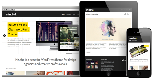 mindful screen1 15 Extraordinary Wordpress Themes by Theme Trust