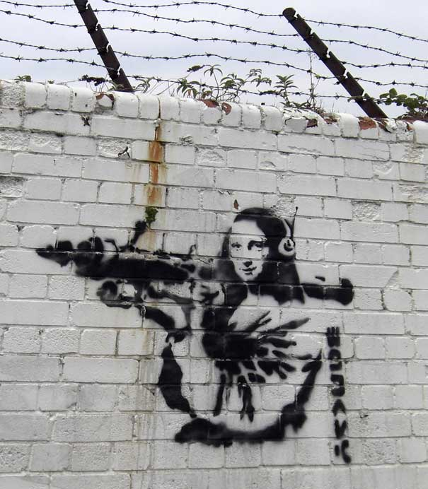 "mona lisa bazooka ""You are not Banksy"" by Nick Stern"