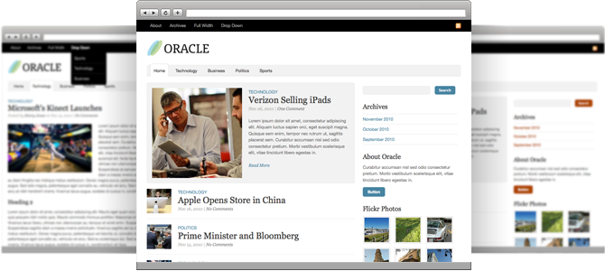 oracle screen1 15 Extraordinary Wordpress Themes by Theme Trust