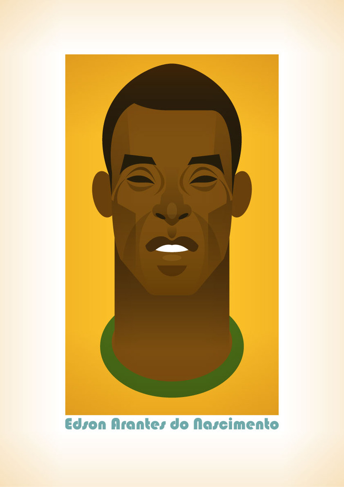 pele Famous Footballers Illustrated by Stanley Chow