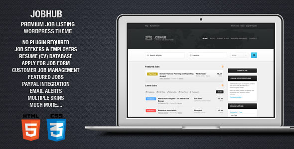 preview   large preview1 15 Superior Job Board Wordpress Themes & Plugins