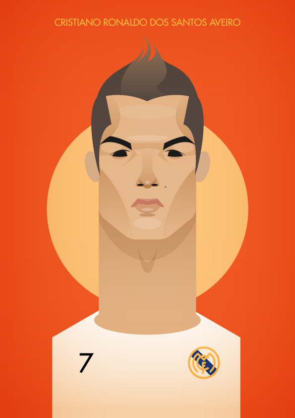 ronaldo Famous Footballers Illustrated by Stanley Chow