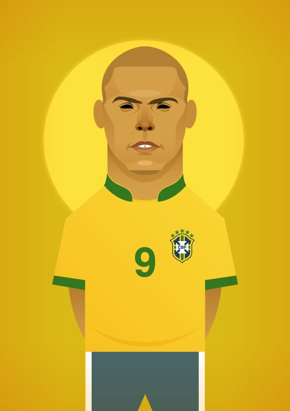 ronaldo v2 Famous Footballers Illustrated by Stanley Chow