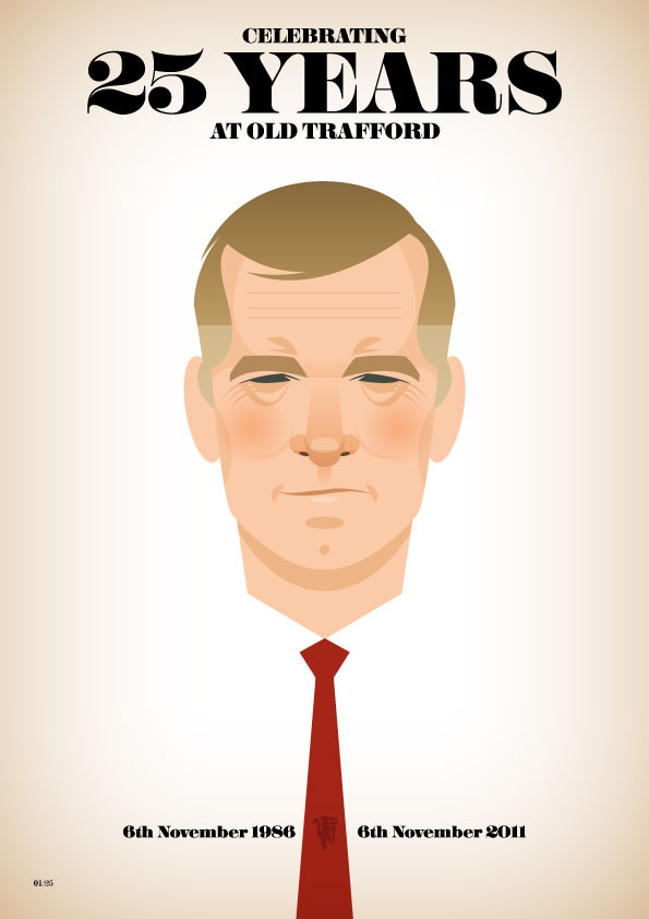 siralexltdedition Famous Footballers Illustrated by Stanley Chow